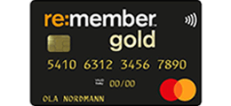 Les 1 omtale om re:member Gold kredittkort